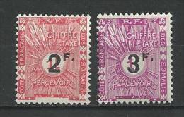 """Cote Somalis Taxe YT 9 & 10 """" Surchargés """" 1927 Neuf* - Côte Française Des Somalis (1894-1967)"""