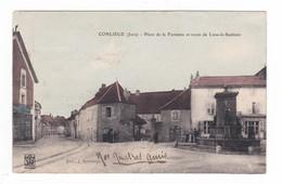 Conliège.39.Jura.Place De La Fontaine Et Route De Lons-le-Saulnier.1907 - Autres Communes