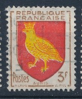 Frankreich 3 F. Gest. Wappen Aunis Vogel - Briefmarken