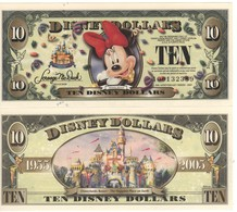USA   DISNEY $ 10    MINNIE MOUSE   Serie A  2005     GENUINE - Collections
