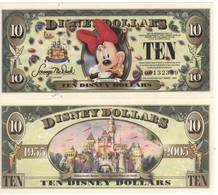 USA   DISNEY $ 10    MINNIE MOUSE   Serie A  2005     GENUINE - United States Of America