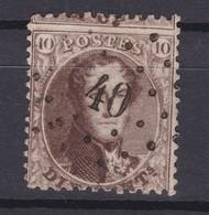 N° 14 A LP 40  DISTRIBUTION BILSEN  COBA + 20.00 - 1863-1864 Medallones (13/16)