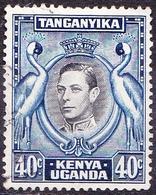 KENYA UGANDA TANGANYIKA 1952 KGVI 40c Black & Blue SG143 FU - Kenya, Uganda & Tanganyika