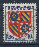 Frankreich 10 C. Gest. Wappen Bourgogne Lilie - Briefmarken