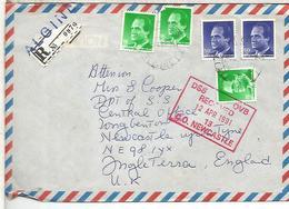 ALGINET VALENCIA  C C CERTIFICADA SELLOS BASICA MAT VALORES - 1931-Hoy: 2ª República - ... Juan Carlos I
