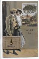 Saluti Da Roma Con Valigetta E Vedutine. - Roma