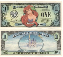USA   DISNEY $ 1  ARIEL The LITTLE MERMAID   Serie A  2007     GENUINE - Collections