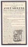 DP Aime Sierens ° Ieper 1882 † 1933 X Laure Bracqué - Images Religieuses