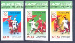 2019. Kyrgyzstan, Football, Asian Cup 2019, 3v Imperforated, Mint/** - Kirgisistan