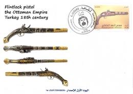 DZ Algeria 1745 FDC Flintlock Pistol The Ottoman Empire Turkey 18th Century. - Militaria