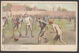 TRANSVAAL SOUTH AFRICA - AUSTRALIA 1905 FOOTBALL SOCCER POSTCARD - South Africa (...-1961)