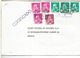 JAVEA ALICANTE  C C CERTIFICADA SELLOS BASICA - 1931-Hoy: 2ª República - ... Juan Carlos I