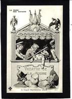 CPA Fête Foraine Anti Kaiser Germany Satirique Caricature Non Circulé Cirque Russie Guignol Marionnettes - Guerre 1914-18