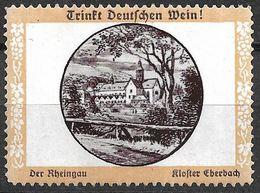 3096d: Trinkt Deutschen Wein, Vignette Kloster Eberbach, ** Wie Verausgabt Ca. 1920 - Wein & Alkohol
