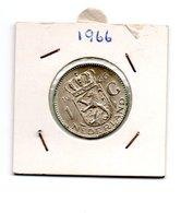 NEDERLAND 1 GULDEN 1966 JULIANA ZILVER - [ 3] 1815-… : Royaume Des Pays-Bas