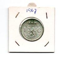 NEDERLAND 1 GULDEN 1967 JULIANA ZILVER - [ 3] 1815-… : Royaume Des Pays-Bas
