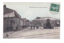 Conliège.39.Jura.Place De La Mairie.1909 - Autres Communes