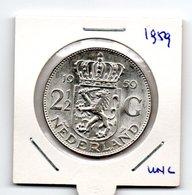 NEDERLAND 2 1/2 GULDEN 1959 JULIANA ZILVER - [ 3] 1815-… : Royaume Des Pays-Bas