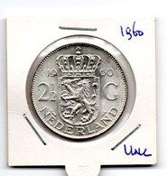 NEDERLAND 2 1/2 GULDEN 1960 JULIANA ZILVER - [ 3] 1815-… : Royaume Des Pays-Bas