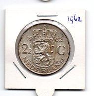 NEDERLAND 2 1/2 GULDEN 1962 JULIANA ZILVER - [ 3] 1815-… : Royaume Des Pays-Bas