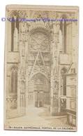 ROUEN - CATHEDRALE PORTAIL DE LA CALENDE - EGLISE SEINE MARITIME - MAGASIN DE MODES - PHOTO CDV 10 X 6 CM - Anciennes (Av. 1900)
