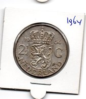 NEDERLAND 2 1/2 GULDEN 1964 JULIANA ZILVER - [ 3] 1815-… : Royaume Des Pays-Bas