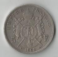 FRANCE 5 FRANCS 1868 ARGENT - France