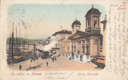 ITALY - Trieste 1900 - Riva Carciotti - Train - Trieste