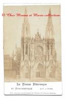 ROUEN - FACADE OCCIDENTALE ST OUEN - EGLISE SEINE MARITIME - PHOTO CDV 8.5 X 6.5 CM - Anciennes (Av. 1900)