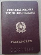 PASSAPORTO / PASSAPORT - Repubblica Italiana. C1 - Documenti Storici