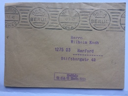 GERMANY 1942 Cover Berlin To Herford Free Mail Berlin Sch A - Deutschland