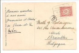 1921 Cijfer 12,5 Cent N.V.P.H. 108 Enkel AK Heeze. Treinblokstempel Roermond-Eindhoven E - 1891-1948 (Wilhelmine)
