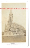 ROUEN - BONSECOURS - EGLISE SEINE MARITIME - PHOTO CDV 9.5 X 5.5 CM - Anciennes (Av. 1900)