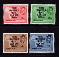 GHANA   1958    Prime  Ministers  Visit    Set  Of  4    MH - Ghana (1957-...)
