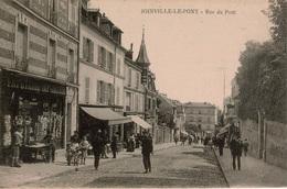 Cpa 94 JOINVILLE-LE-PONT  Rue Du Pont , Belle Animation En Gros Plan , Papeterie-Imprimerie , Dos Vierge , TBE - Joinville Le Pont