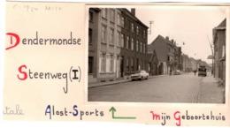 Dendermondse C.1950 Steenweg  Aalst Alost Sports Mijn Geboortehuis - Photo C.7x10cm  Belgique - Automobiles