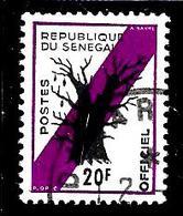 SENEGAL S12° 20f Violet Et Noir Baobab (10% De La Cote + 0,15) - Senegal (1960-...)