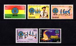 GHANA   1971    Ghana  Girl  Cuides  Golden  Jubilee    Set  Of  5    MH - Ghana (1957-...)