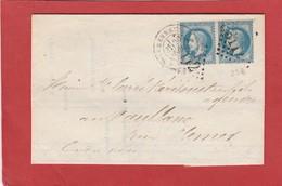 Ille Et Vilaine - Rennes - GC 3112 Sur Paire N°29 - LAC 1868 - 1849-1876: Classic Period