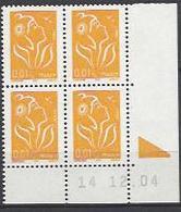 CD 3731 FRANCE 2005 TYPE MARIANNE DE LAMOUCHE REPERE DE COULEUR MISE EN SERVICE EN 2015 COIN DATE 3731 : 14 12 04 - 2000-2009