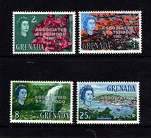 GRENADA    1867    Stateshood  Overprint   Set  Of  4    MH - Grenada (...-1974)