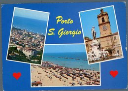 °°° Cartolina N. 20 Porto S. Giorgio Vedutine Viaggiata °°° - Ascoli Piceno