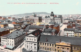 Montréal Québec Canada - View On Courthouse And City Hall - Written 1913 - Impeccable Condition - 2 Scans - Montreal