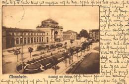 MANNHEIM GERMANY~BAHNHOF Mit ANLAGE-1903 PHOTO POSTCARD 40867 - Mannheim