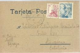 TARJETA POSTAL ZARAGOZA - 1931-50 Cartas