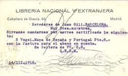 TARJETA POSTAL MADRID - 1931-50 Cartas