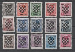 Croatia NDH, MLH, 1941, Michel 9-23 - Croatie