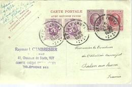 CARTE POSTALE  1932  HUY - Entiers Postaux