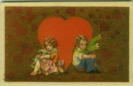BUSI SIGNED 1910s POSTCARD - KIDS & BIG HEART - EDIT DEGAMI 2168 (BG385) - Busi, Adolfo