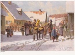 Herzliche Neujahrsgrüße Paul Hey Nr 6903 Dorf Musikanten Winter Im Schnee Col Fast TOP-Erhaltung Ackermanns Kunstverlag - Hey, Paul